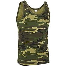 Camiseta de tirantes estilo militar de camuflaje. Diferentes diseños.