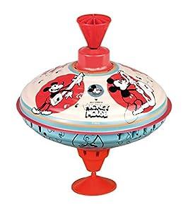 Bolz 52362 - Peonza de Peluche (16 cm, Chapa de Metal, con diseño de Mickey Mouse, peonza con Base, para niños a Partir de 18 Meses)