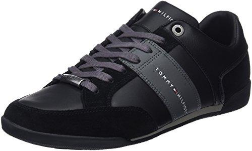 Tommy Hilfiger Herren Corporate Material Mix Cupsole Sneaker, Schwarz (Black 990), 43 EU