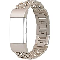 Fitbit Charge 2 Band,hooroor Stainless Steel Bracelet Strap Wristband for Fitbit Charge 2 Smart Fitness Watch