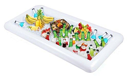 Funpa Salatbar, Aufschlagstange Aufblasbare Extra Große Essen Trinken Halter Buffet Bar Schwimmbad Party Lieferungen