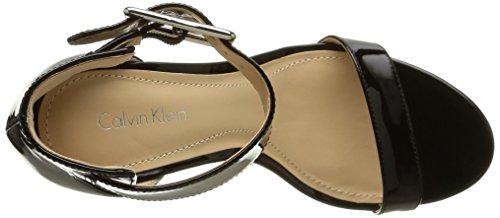 Calvin Klein  Vivian,  Damen Slingback Pumps , Schwarz - Schwarz - Noir (Blk/Glossy Patent) - Größe: 39 -