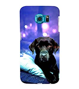 Dog 3D Hard Polycarbonate Designer Back Case Cover for Samsung Galaxy S6 Edge :: Samsung Galaxy S6 Edge G925 :: Samsung Galaxy S6 Edge G925I G9250 G925A G925F G925FQ G925K G925L G925S G925T