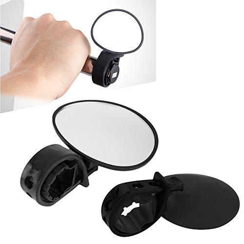 quanjucheer Fahrradspiegel, Flexibler Rückspiegel, Sicherheitsspiegel, Schwarz, 6.8cm x 5.7cm