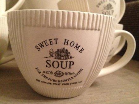 DRULINE 6 x Vintage Landhaus Suppentasse Suppenschüssel Schüssel Antik Shabby Chic