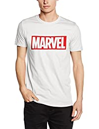 Marvel Herren Comics-Core Logo-Mens-T-Shirt