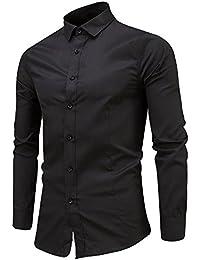 ♚Hombres Slim Fit Camiseta,O Cuello Camiseta Manga Larga Camiseta Camiseta Casual Tops Blusa Tops Irregulares Absolute