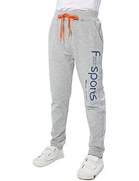 Pantalones De Deporte Niños Casual Impreso Pantalón Largo De Jogging