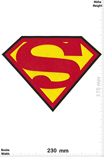 Patch - Superman - 22 cm - Bigpatch - Superman - Aufnäher - zum aufbügeln - Iron On (Superman Iron On Patch)