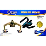 YOZO S Shape Push Up Bar Stand with Foam Grip Handle for Chest Press, Home Gym Fitness Exercise, Strength Training (Multi Color)