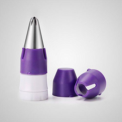 Preisvergleich Produktbild SveBake 4-Teiliges Dekorieren Tip Coupler Kupplung Koppler Set Dekorieren Tools Setweiß für Standard & Große Edelstahl Spritztüllen Düse, Einweg & Silikon Spritzbeutel