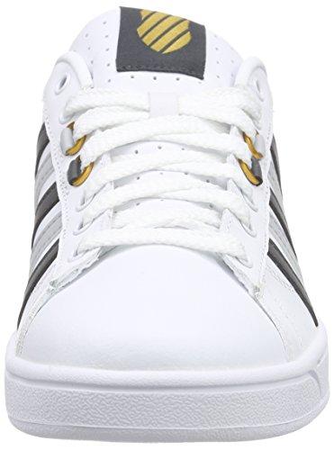 K-Swiss Hoke Cmf, Sneakers basses homme Blanc - Weiß (White/Dark Shadow/Highrise 171)