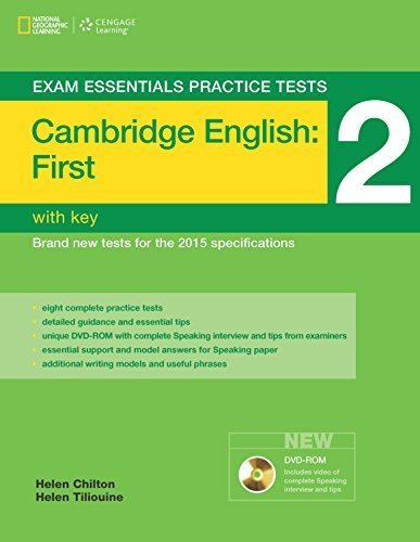 Exam Essentials: Cambridge First Practice Tests 2 w/key + DVD-ROM (Exam Essentials Practice Tests) 1st edition by Osbourne, Charles, Chilton, Helen, Tiliouine, Helen (2014) Paperback