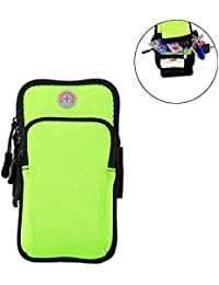 Running Belts Green: SAVORI Waterproof Sports Armband Bag Running Wrist Pouch Bag Phone Arm Package For Climbing...