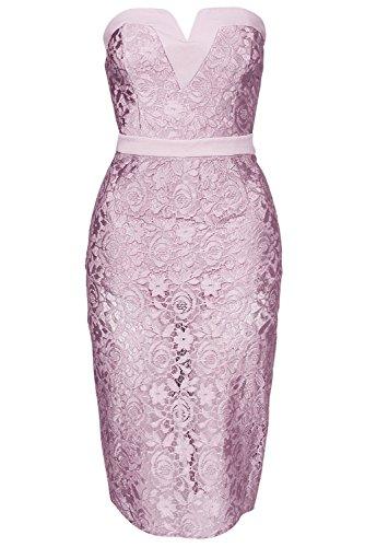Pinkyee Damen Kleid Violett