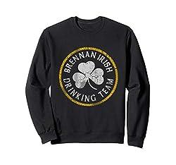 Brennan Irish Drinking Team St Patricks Day Family Surname Sweatshirt
