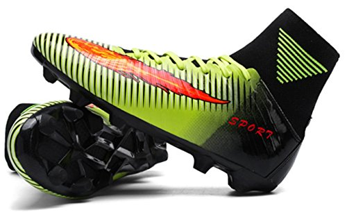 HYLM Scarpe da calcio Calzature sportive Calzature da calcio all'aperto Scarpe da allenamento per giovani greennails