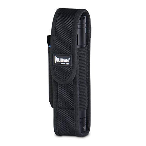 "Funda de linterna, Bolsa de seguridad para linterna Escalable Bolsa de Cintura Nylon Negro 6 \""x1.2\"""