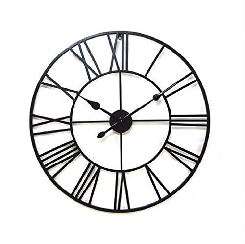 c Wanduhr Große Wanduhr Stille für Küche/Schlafzimmer/Wohnzimmer/Vintage schmiedeeisen Römische Uhr Durchmesser 80 cm ()