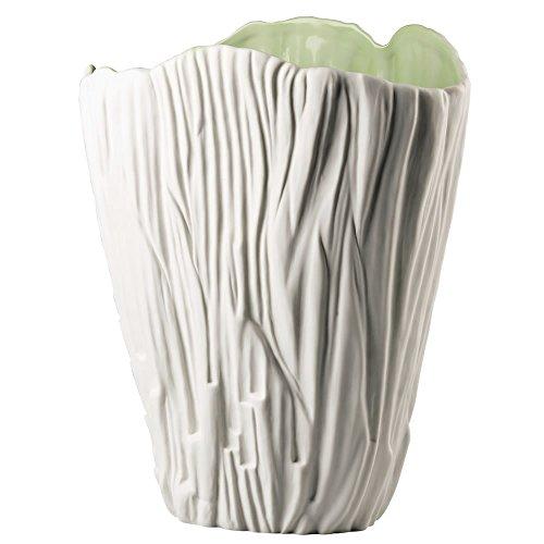 Hutschenreuther 02466-725590-26027 Green Garden Vase  mit Struktur, 27 cm, weiß / grün