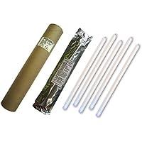 Cyalume - Paquete de 20 tubos luminosos SnapLight Non-Impact, 40 cm, 15 pulgadas, 1 Anilla, 8 horas, embalados individualmente, color blanco