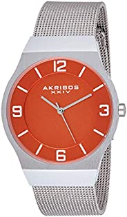 Akribos XXIV Mens Quartz Watch, Analog Display and Stainless Steel Strap AK851OR