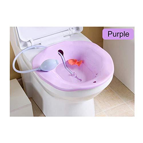 TMY Bidet Tragbare 2.5L Bidet Sitz Badewanne Baby Newborn Nursing Basin Kit Postpartale Hämorrhoiden Waschbecken Sprayer auf Toilette (Color : Purple) - Waschbecken, Baby-badewanne