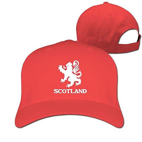 deyhfef Verstellbarer Hut mit Unisex-Schirm und flachem Rand + Dad-Hut + Baseball-Mütze - Lion Rampant Scotland Schottisches ()