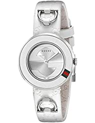 Gucci Damen-Armbanduhr U PLAY Analog Quarz Leder YA129509