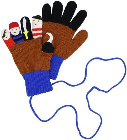 Kidorable Original Gebrandmarkt Pirat Handschuhe für Mädchen, Jungen, Kinder - Klein