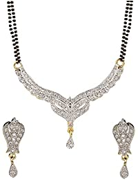 YouBella Latest Traditional Jewellery Gold Plated Jewellery Set for Women (Golden)(YBMS_10004)