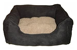 """42"""" Black Dog Bed Cushion Sofa Bed 105 x 80 x 20 cm With Removable Cushion Made Of Microfiber Fleece and Cotton Fully Washable by KMS"""