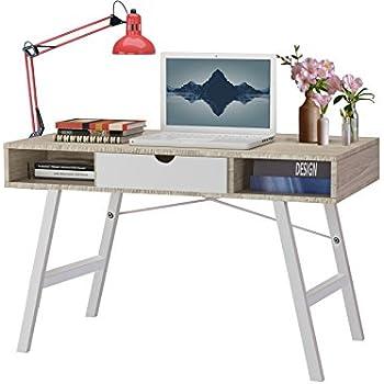 clp schreibtisch eaton aus mdf eichenholz 2 schubladen gro e arbeitsfl che 140 x 60 cm. Black Bedroom Furniture Sets. Home Design Ideas