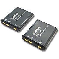 INTENSILO 2x Li-Ion Akku 700mAh (3.7V) für Kamera Camcorder Kodak EasyShare M873, M883 wie Kodak LB-012.
