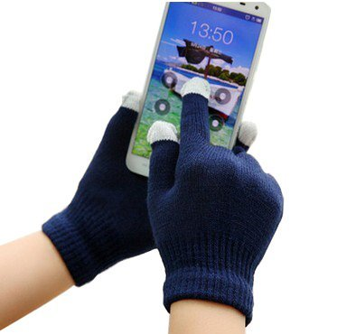 (navy blu) Rivero inverno caldo guanti per touch screen, per tutti gli smartphone/dispositivi touch screen (Navy Ago)