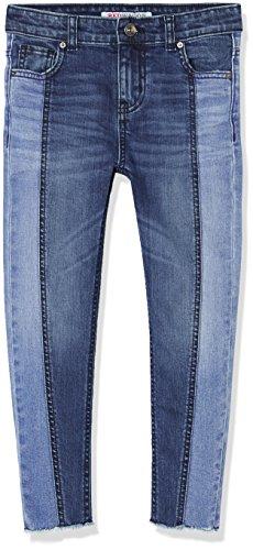 RED WAGON Jeans Mädchen mit Fransen-Details, Blau (Blue), 140 (Herstellergröße: 10 Jahre) (Blaue Jeans-patchwork)