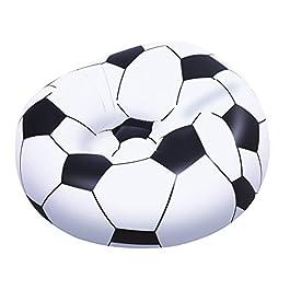 Bestway 75010 – Poltrona Pallone Calcio, 114 x 112 x 66 Cm