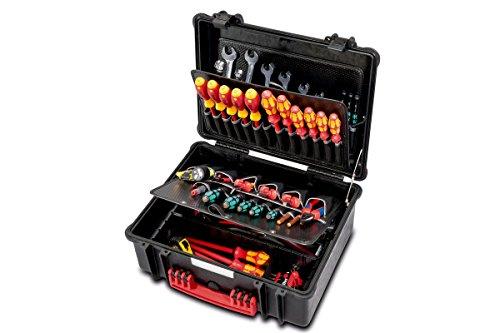 PARAT 6480.100-391 PARAPRO Werkzeugkoffer mit genähten Separationen, schwarz (Ohne Inhalt)