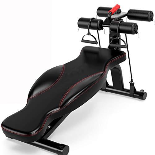 Kitzen Crunches Machine - Bauchmuskel-Fitnessgeräte Für Faule Bauchmuskel-Fitnessgeräte Home Female Belly Waist Machine Workout Bench,Red (Home Gym Equipment Bench)