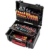 Parat 6480.100-391 Parapro - Caja para herramientas (separaciones cosidas, herramientas no incluidas), color negro