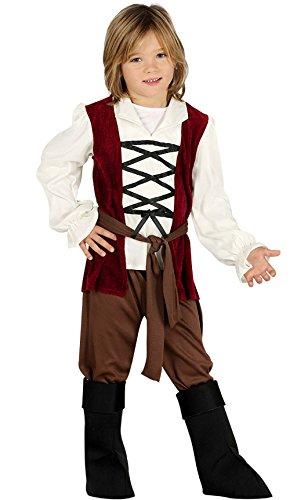Generique Mittelalter Kostüm für Jungen Braun-Rot 98/104 (3-4 (Jungen Mittelalter Kostüme)