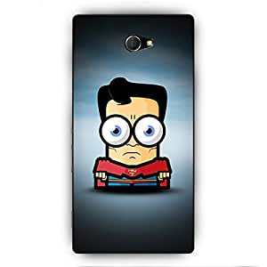 EYP Big Eyed Superheroes Superman Back Cover Case for Sony Xperia M2