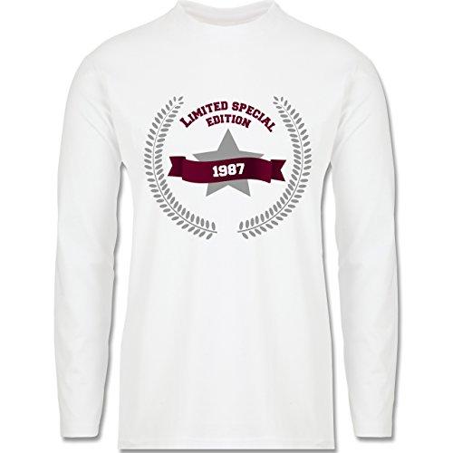 Geburtstag - 1987 Limited Special Edition - Longsleeve / langärmeliges T-Shirt  für Herren Weiß