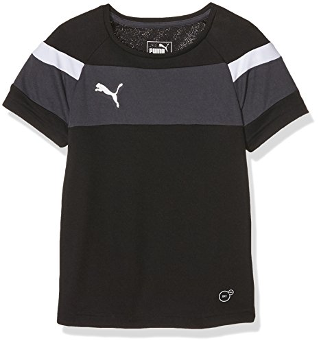 PUMA Kinder T-shirt Spirit II Training Jersey, black-white, 164, 654655 03 (Puma Sportkleidung)