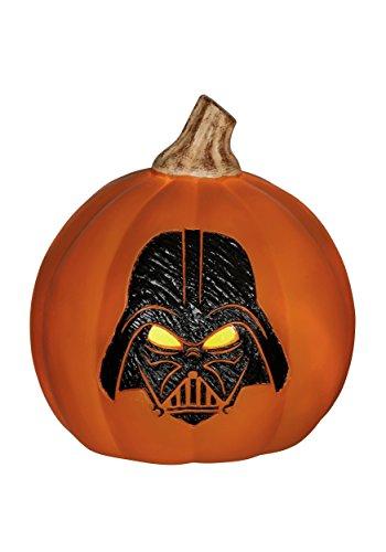 SEASONS (HK) LTD Star Wars Darth Vader Light-Up Orange Pumpkin - Light Up Darth Vader Kostüm