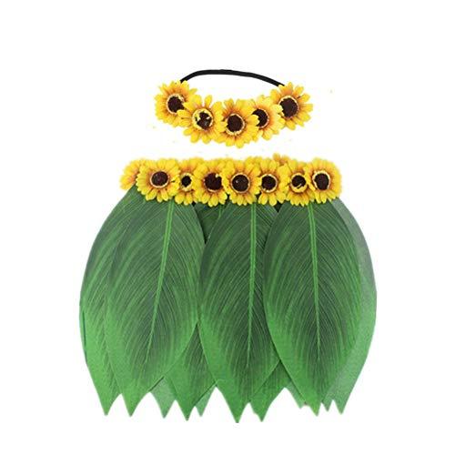 waii Blätter Rock Sonnenblume Stirnband Party Supplies für Beach Luau Party Tropical Party ()