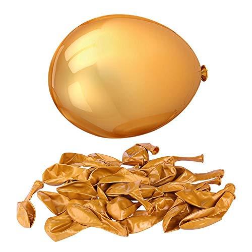 Globos Dorados, Globos de látex 100 Piezas 10 Inch Oro Globos Dorados Metalizados Globos Latex Oro Globos Cumpleaños Dorado Globos Bodas de Oro, Globos para Fiesta, Cumpleaños, Bodas, Bautizos
