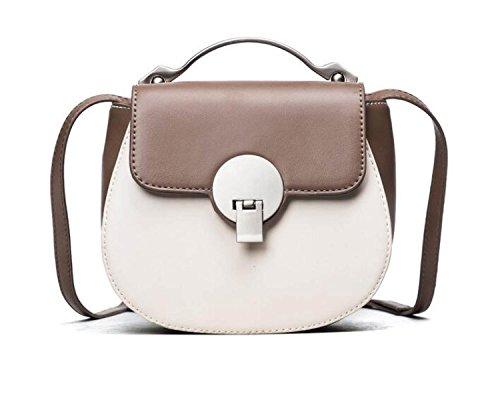 KYFW Womens Hardware Hand - Hit Color Lock Bag Schulter Messenger Bag Mode Einfache Tasche C