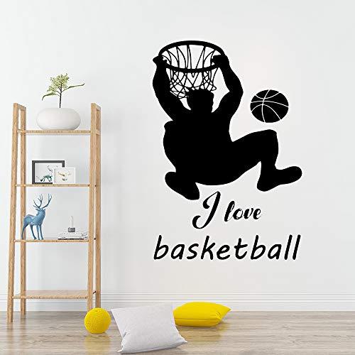 HNXDP Moderne Sport Basketball Wandaufkleber Wohnkultur Dekoration Pvc Wandtattoos Schlafzimmer Kinderzimmer Dekoration Blau M 30 cm X 44 cm -
