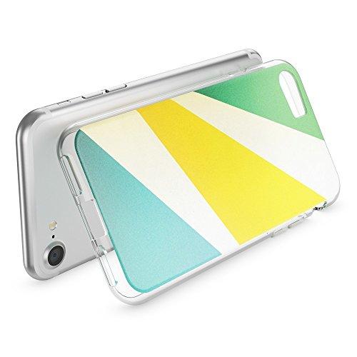 iPhone 8 / 7 Hülle Handyhülle von NICA, Slim Silikon Motiv Case Crystal Schutz Dünn Durchsichtig, Etui Handy-Tasche Back-Cover Transparent Bumper für Apple iPhone 7 / 8 - Transparent Retro